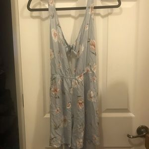 PacSun Light Blue Floral Romper by Kendall&Kylie